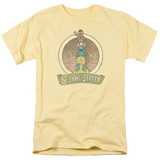 Sesame Street Stacked Group Adult 18/1 T-Shirt Banana