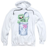 Sesame Street About That Street Life Adult Pullover Hoodie Sweatshirt White