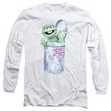 Sesame Street About That Street Life Adult Long Sleeve T-Shirt White