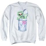 Sesame Street About That Street Life Adult Crewneck Sweatshirt White