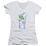 Sesame Street About That Street Life Junior Women's V-Neck T-Shirt White