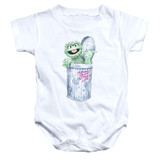 Sesame Street About That Street Life Baby Onesie T-Shirt White