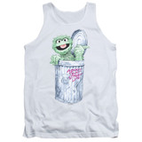 Sesame Street About That Street Life Adult Tank Top T-Shirt White