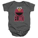 Sesame Street Elmo Smile Baby Onesie T-Shirt Charcoal