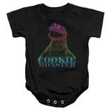 Sesame Street CM Halftone Baby Onesie T-Shirt Black