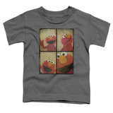 Sesame Street Photo Booth Elmo Toddler T-Shirt Charcoal