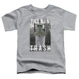 Sesame Street Talkin Trash Toddler T-Shirt Athletic Heather
