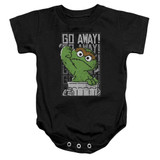 Sesame Street Go Away Baby Onesie T-Shirt Black