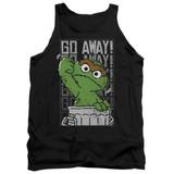 Sesame Street Go Away Adult Tank Top T-Shirt Black
