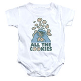 Sesame Street All The Cookies Baby Onesie T-Shirt White