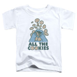 Sesame Street All The Cookies Toddler T-Shirt White
