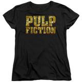 Copy of Pulp Fiction Pulp Logo Women's T-Shirt Black - Clearance