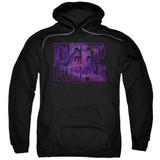 Deep Purple Spacey Adult Pullover Hoodie Sweatshirt Black - Clearance