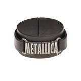 Metallica Logo Leather Wrist Strap by Alchemy of England