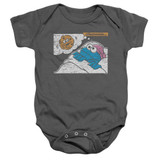 Sesame Street Meanwhile Baby Onesie T-Shirt Charcoal