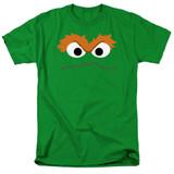 Sesame Street Oscar Face Adult 18/1 T-Shirt Kelly Green