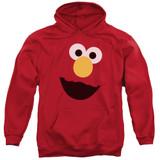 Sesame Street Elmo Face Adult Pullover Hoodie Sweatshirt Red