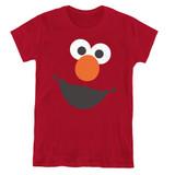 Sesame Street Elmo Face Women's T-Shirt Cardinal