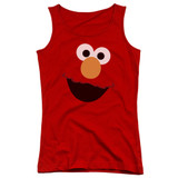 Sesame Street Elmo Face Junior Women's Tank Top T-Shirt Red
