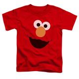 Sesame Street Elmo Face Toddler T-Shirt Red