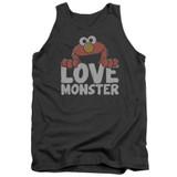 Sesame Street Love Monster Adult Tank Top T-Shirt Charcoal