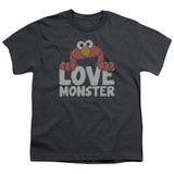 Sesame Street Love Monster Youth T-Shirt Charcoal