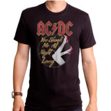 AC/DC All Night Adult T-Shirt Black