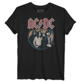 AC/DC Aquatint Women's Rolled Sleeve Boyfriend T-Shirt Black