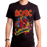 AC/DC Devil Angus Adult T-Shirt Black