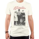 Blondie Wallflowers Logo Adult T-Shirt Vintage White