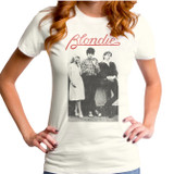 Blondie Wallflowers Logo Junior Women's T-Shirt Vintage White