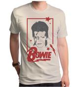 David Bowie Aladdin Frame Adult T-Shirt Cream