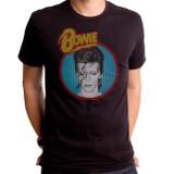 David Bowie Dull Aladdin Blue Adult T-Shirt Black