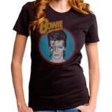 David Bowie Dull Aladdin Blue Junior Women's T-Shirt Black