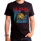 Def Leppard Pyromania Adult T-Shirt Black