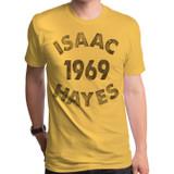 Isaac Hayes 1969 Adult T-Shirt Gold