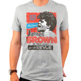 James Brown James Brown and His Review Adult T-Shirt Heather Grey