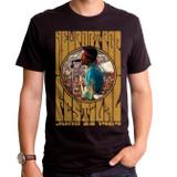 Jimi Hendrix Newport Pop Adult T-Shirt Black
