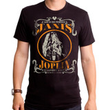 Janis Joplin Live Adult T-Shirt Black