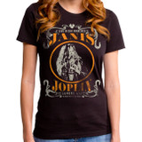 Janis Joplin Live Junior Women's T-Shirt Black