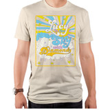 The Beatles Lucy In The Sky Adult T-Shirt Off White
