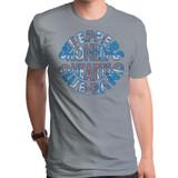 The Beatles Union Jack Logo Adult T-Shirt Stone Heather