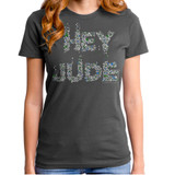 The Beatles Hey Jude Flowers Junior Women's T-Shirt Titanium