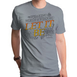 The Beatles Let It Be Adult T-Shirt Stone Heather