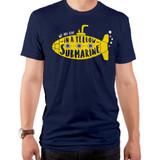 The Beatles Yellow Submarine Adult T-Shirt Navy