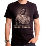 Muddy Waters Blues Man Adult T-Shirt Black