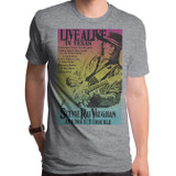 Stevie Ray Vaughan Live Alive In Texas Adult T-Shirt Triblend Gray
