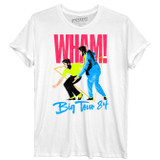 Wham Tour 84 Rolled Sleeves Junior Women's T-Shirt White