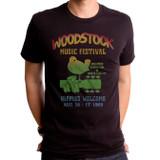 Woodstock Music Festival Adult T-Shirt Black
