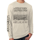 Woodstock Poster Adult Long Sleeve T-Shirt Cream